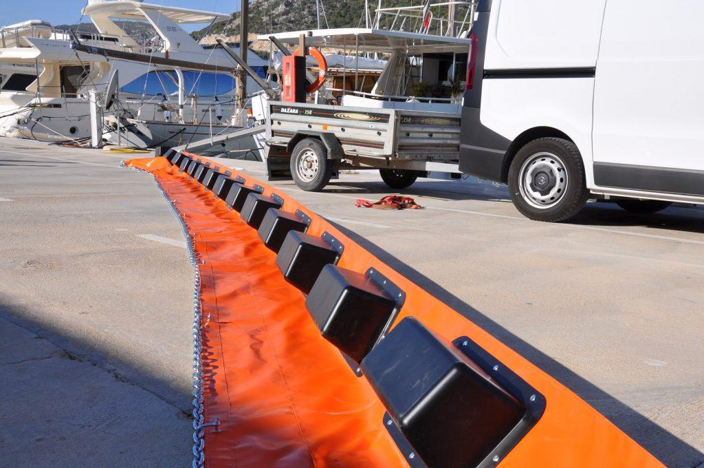 barreras marinas de contención